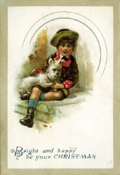 old fashion Christmas greeting card